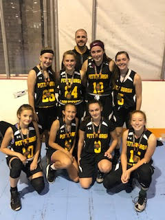 Younger Girls went undefeated and won the Pittsburgh Fall Classic vs Court Soldiers 13u by the score of 39-19